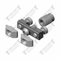 Fijación ajustable oculta (Acero zincado) # Adjustable connector (Zinc plated steel)