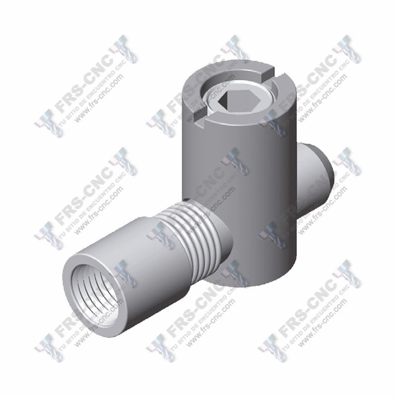 Conector con rosca interior M8 (Acero zincado) # Internal M8 thread ioint. (Zinc plated steel)